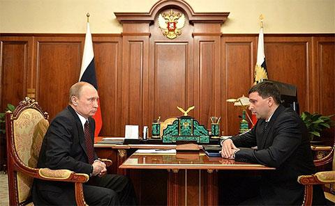 Владимир Путин и Дмитрий Кобылкин
