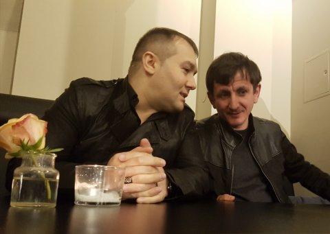 Слева: авторитет Хамзат Гастамиров (Шейх) и вор в законе Кахабер Макалатия (Каха Абашский), 13.05.2017, Германия