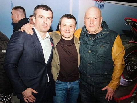 Слева: Николаевский предприниматель Алексей Коваленко, авторитет Михаил Титов и экс-депутат горсовета Андрей Баев