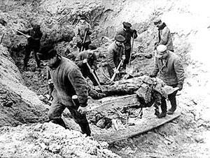 Эксгумация тел жертв Катынского расстрела