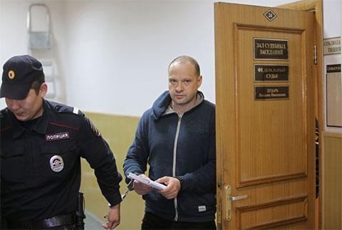 Алексей Чернов в Басманном суде Москвы