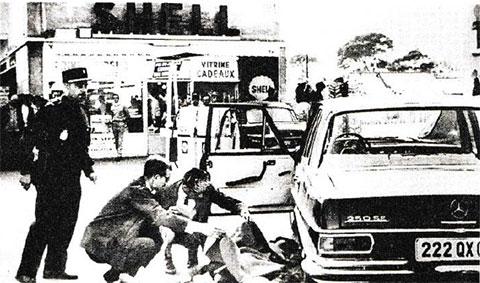 Полиция у тела Антуана Герини