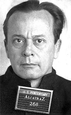 Артур Баркер в тюрьме Алькатрас