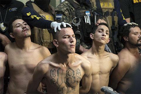 Задержание члено банды Баррио-18