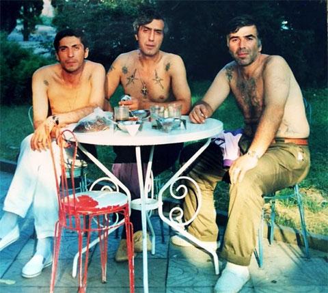 Слева воры в законе: Константин Калашян (Котик), Худо Гасоян (Худо Саратовский) и Акакий Давитулиани (Какула)