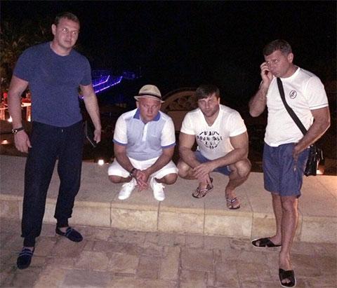 Слева воры в законе: Андрей Казаков (Чили), Гизо Кардава, Георгий Зарандия (Гия Гальский) и Гела Кардава