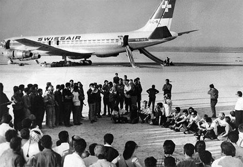 Освобожденные пассажиры угнанного самолета