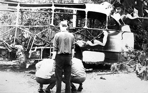 Взрыв автобуса в Краснодаре
