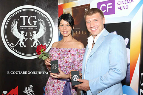 Руслан Токарев с женой Ариной