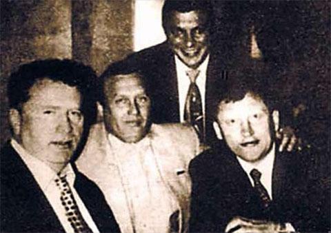 Слева: Владимир Жириновский, Александр Ефимов, Руслан Коляк, Михаил Глущенко
