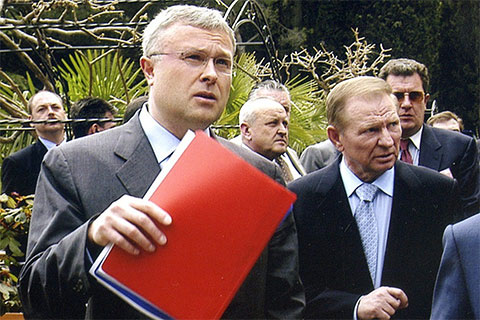 Александр Лебедев и Леонид Кучма