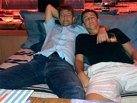 Денис Штенгелов с сыном