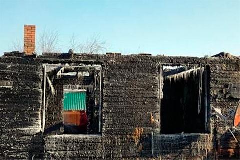 Дом эколога после поджога