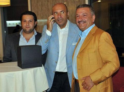 Игорь Крутой с Тельманом Исмаиловым и его сыном Алекспером