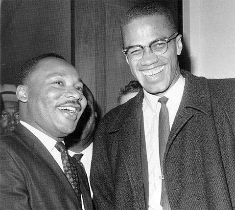 Слева: Мартин Лютер Кинг и Малкольм Икс
