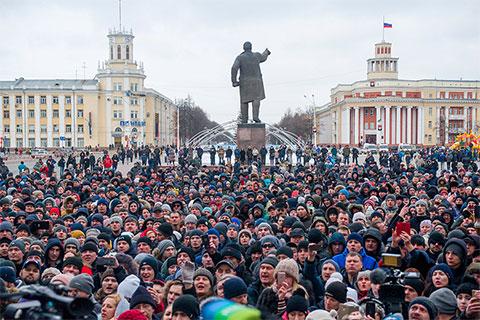 Митинг в Кемерово. Klb требуют отставки властей