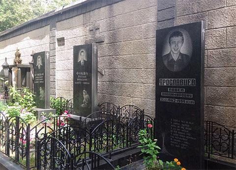 Могилы ореховских на Хованском кладбище