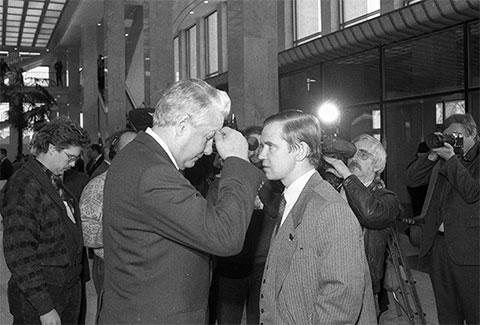 Борис Ельцин и Сергей Станкевич