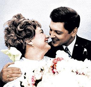 Юрий Чурбанов и Галина Брежнева - свадебное фото