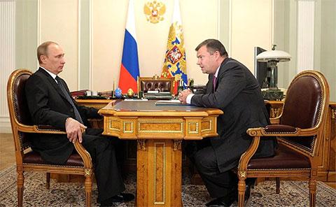 Владимир Путин и Андрей Бокарев