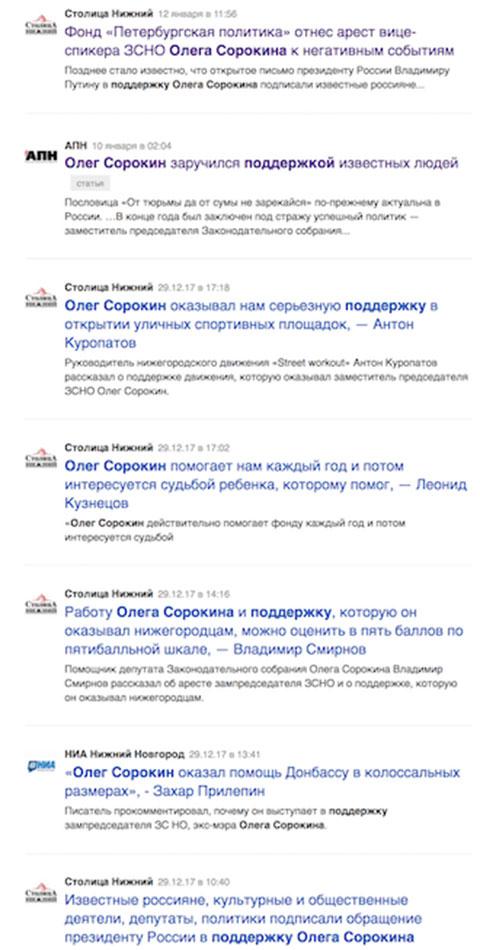 «Столица Нижний» Элады Нагорной борется за имидж Олега Сорокина в медиа