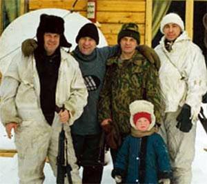 Виктор Зимин (крайний слева) в бытность заместителя начальника абаканского филиала Красноярской ЖД