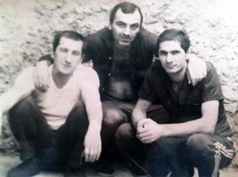 Слева воры в законе: Вахтанг Шелегия, Тариел Ониани и Захарий Калашов