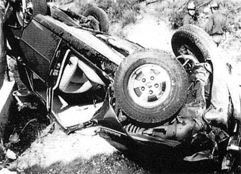 Автомобиль Грейс Келли после аварии