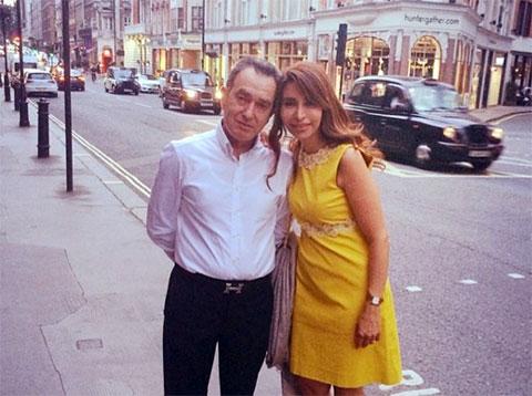 Мудалал Хури с женой любит бывать в Лондоне