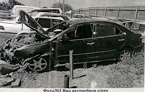 Машина после страшной аварии