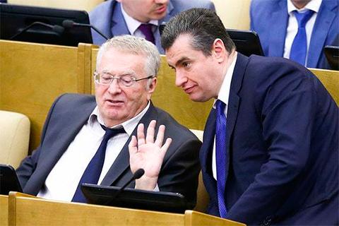Леонид Слуцкий и Владимир Жириновский