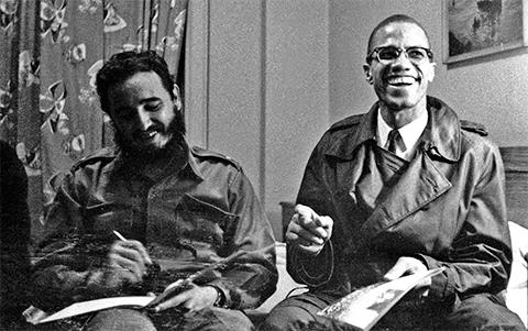 Малкольм Икс и Фидель Кастро