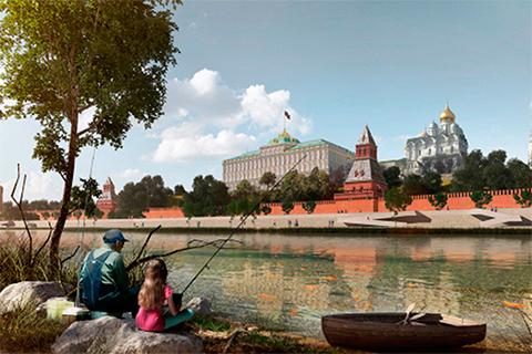Одна из визуализаций концепции развития московских набережных