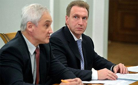Андрей Белоусов и Игорь Шувалов
