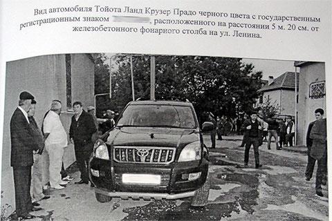 Машина Фраля Шебзухова (из материалов уголовного дела)