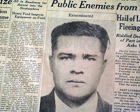 Красавчика Флойда искали и с помощью газет, которые писали про преступления банды и публиковали фотографию главаря