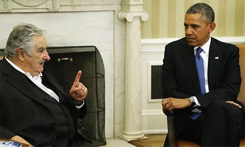 Хосе Мухика и Барак Обама