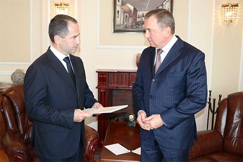 Министр иностранных дел Республики Беларусь Владимир Макей и Михаил Бабич