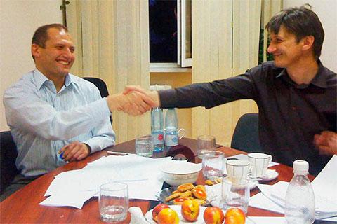 Слева: Максим Яковлев