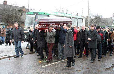 Похороны Бирюкова в Бобруйске