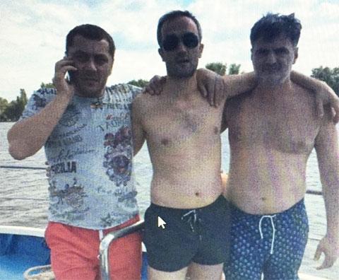 Слева воры в законе: Андрей Недзельский (Неделя), Каха Орагвелидзе и Сергей Глонти (Гуга)