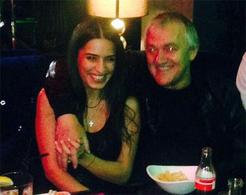Антимоз Кухилава с невесткой Мадиной в ночном клубе Park Residence, октябрь 2014-го