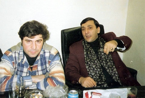 Слева: певец Сосо Павлиашвили и вор в законе Владимир Оганов