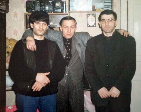 Слева воры в законе: Эдуард Асатрян (Эдик Осетрина), Александр Северов (Саша Север), Малхаз Абциаури (Вардена)
