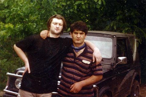 Слева воры в законе: Валало Ишхнели и Эдик Асатрян