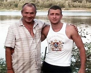 Слева: вор в законе Анатолий Белов (Белый) с сыном вора Граченка