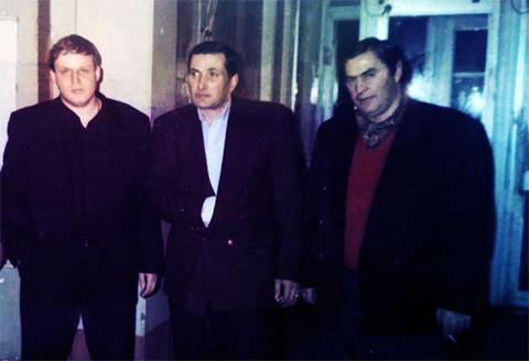 Слева воры в законе: Николай Балашов (Балаш), Ное Цулая (Ной), Шота Гагуа