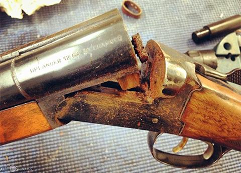 Ржавый механизм ружья