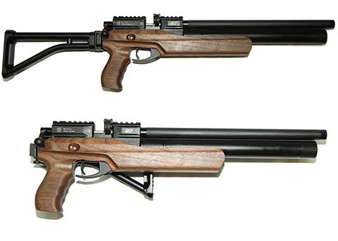 """Пневматическая газобаллонная многозарядная винтовка со складным прикладом калибра 5,5 мм, винтовка-пистолет """"АТАМАН M2R Ultrа-C"""""""