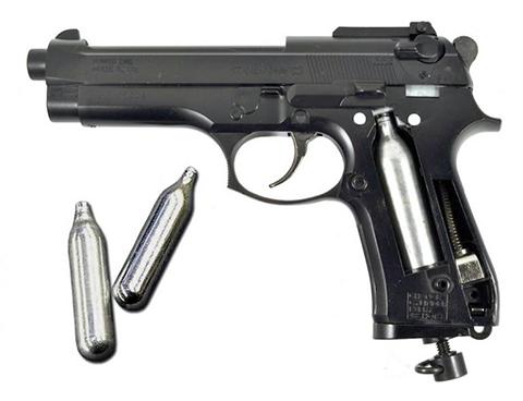 Пистолет с газобаллонной пневматикой